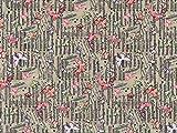 Schmetterlinge & Musik Blatt Druck Baumwolle Popeline Stoff