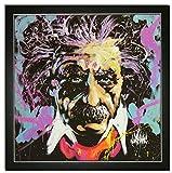 Kunstdruck Bild Albert Einstein Andy Warhol pop art mit Rahmen 69x69 cm PREIS-HIT!