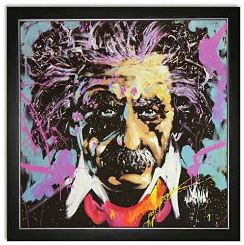 Kunstdruck Bild Albert Einstein Andy Warhol pop art mit Rahmen 69x69 cm PREIS-HIT! (Einstein-bild)