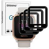 NEWZEROL 3 packs compatibel voor Garmin Venu Sq/Garmin Venu Sq Music Screen Protector, [Edge Cover] 3D Carbon Fiber Edge Hoge