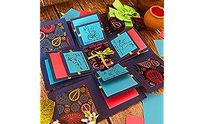 Crack of Dawn Crafts Rakhi Explosion Box Greeting Card - Pink Dhamaka for Sister