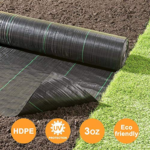 JYCRA Unkrautschutzvlies, 1 m x 15 m, strapazierfähig, Polypropylen-Bodenabdeckung, Membran, Garten, Landschaft, Auffahrt, Unkrautblock. -