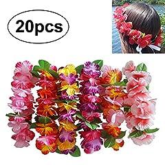 Idea Regalo - InnoBase Ghirlanda di fiori Hawaiana Collana di lei fiore di seta fascia hula Leis Fiori Accessorio Decorazione For Women Ladies Girls, Multicolore Fasce Corona di Fiori Ghirlanda