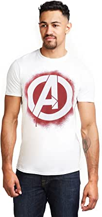 Marvel Avengers Stencil Logo T-Shirt Uomo