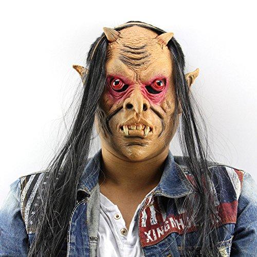 Hässliche Vampire Halloween Kostüm Maske voller Gesichtsmaske Kunststoff Latex Maske für cosplay Karneval Festival Party von yunhigh