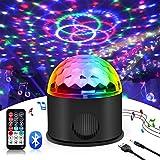 luz de discoteca,Jomst luces de colores para fiestas disco Lámpara 9 colores Jugar MP3 RGB Efecto sonido activado giratorios Magic Ball luces para Bar Boda Disco Fiesta KTV Concierto (9 colores)
