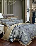 Gaohaifq®, quattro pezzi tuta, fashion Luxury Bedding set nobile ed elegante piumone omaggio di seta lenzuola tessuti per la casa 4pcs Regina King Size queen