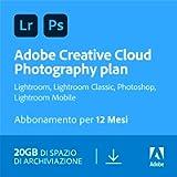 Adobe Creative Cloud Photography Plan with 20GB | 1 Anno | PC/Mac | Codice d'attivazione via email