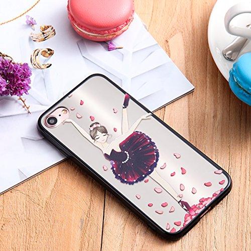 Custodia iPhone 7, iPhone 7 Cover Silicone, SainCat Custodia in Silicone Morbida e Hard PC Protettiva Cover per iPhone 7, Custodia Antiurto Ultra Slim Silicone Case Ultra Sottile Soft TPU e Hard Plast Tutu