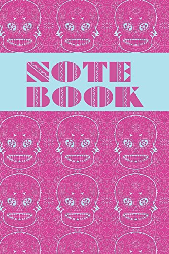 Notebook: Sugar Skull - Day of The Dead - Composition Book .  Cornell Notes  - Large Pink Blue Sugar Skull Tiled (Halloween Paint Cat-body)