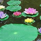 Meiwo Künstliche schwimmende Schaum Lotus Blätter Künstliche Laub Teich Dekoration