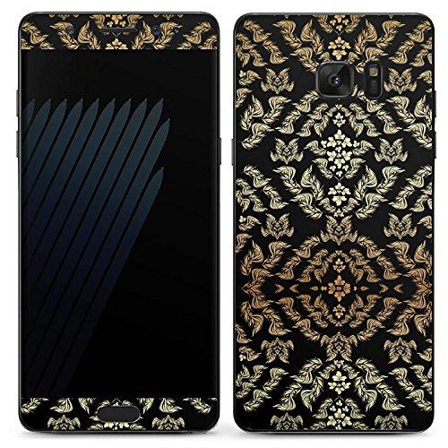 Manor-konsole (Samsung Galaxy Note 7 Case Skin Sticker aus Vinyl-Folie Aufkleber Ornamente Muster Blumen)