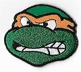 "Michelangelo TMNT Toppa da applicare con ferro da stiro, Mikey spille ""Teenage Mutant Ninja Turtles-Tartarughe Ninja Costume"