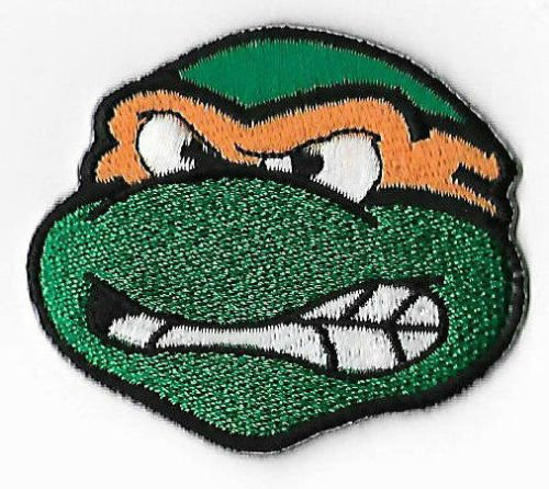 Michelangelo Tmnt Embroidered Iron on Patch/Mikey Fingerring Teenage Mutant Ninja Turtles Badge Kostüm Cosplay (Tmnt Krang Kostüm)