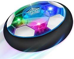 Baztoy Air Power Football, Jouet Enfant Ballon de Foot Rechargeable avec LED Lumière Hover Soccer Ball Jeux de Foot Cadeau d'