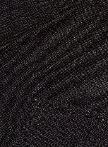 oodji Collection Femme Robe Fourreau avec Encolure Décorée Noir (2900N)