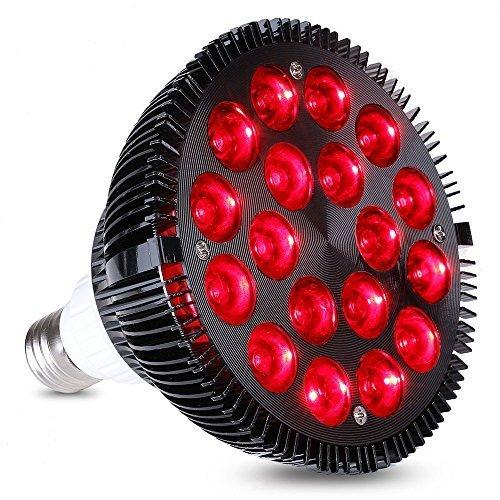 KINGBO 36W Alle Tief Rot 660nm LED Wachsen Glühbirne für Zimmerpflanzen Blühende Blüte und Früchte, wachsen Spektrum Verbesserung und Lichttherapie. -
