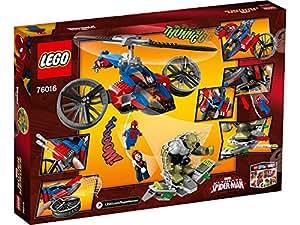 LEGO 76016 -  Super Heroes Elicottero-Ragno Al Salvataggio