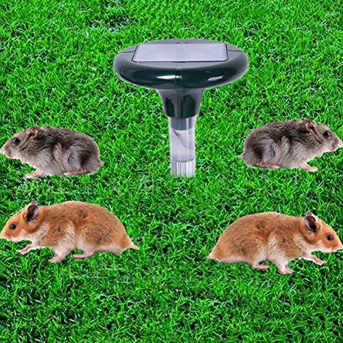 Ultraschall Abwehr Solarbetriebene Ultraschall-Ratte Maus Repeller Aluminium Tube Deterrent Spike für Garten Hof Feld Farm -