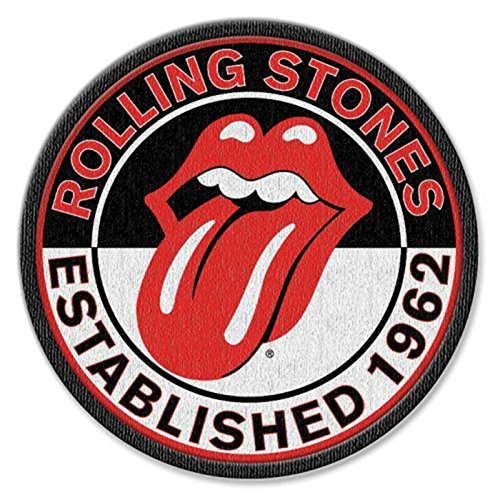The Rolling Stones Patch Est 1962 Band Logo Official Iron on One Size