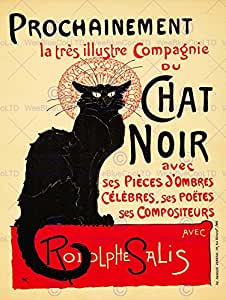 ADVERT THEATRE STAGE CABARET BLACK CAT SALIS PARIS FRANCE POSTER AFFICHE 30X40 CM 12X16 IN PRINT BB7992B