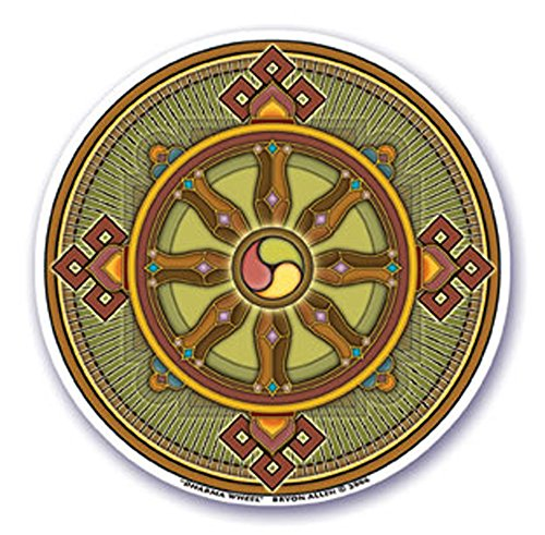 mandala-arts-colorful-decal-window-sticker-45-double-sided-dharma-wheel-by-bryon-allen-s40