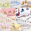 5 Pcs Bedding Set To Fit Cot &cot Bed Pillow Duvet Bumper 100% Cotton - inexpensive UK light shop.