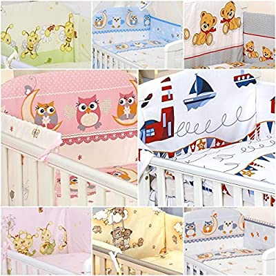 5 Pcs Bedding Set To Fit Cot &cot Bed Pillow Duvet Bumper 100% Cotton produced by Pro Cosmo - quick delivery from UK.