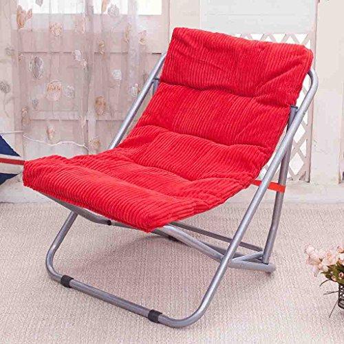 Nichtstuer Klappstuhl Stahlrohr + Cord Fauler Stuhl Liegestühle Liegestühle Mittagspause Stuhl...