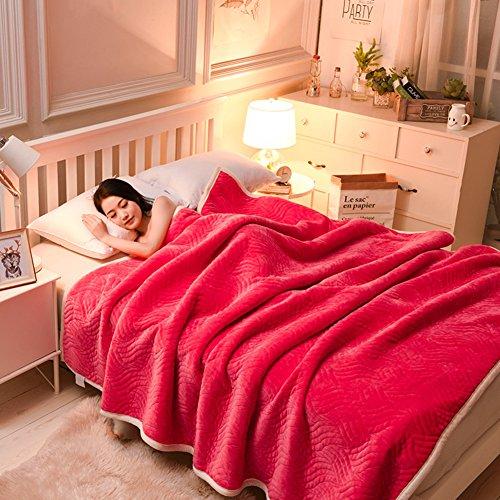 LJ&XJ Weiche dicke decken,Throw blanket machine waschbar komfortable queen König Full size für alle jahreszeiten bett couch camping oder reisen-E 150x200cm(59x79inch) (Full-size-bett Für Kleinkind)