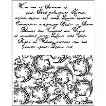 Viva Decor VD400300600 Clear Stamps Schrift und Schnörkel, Synthetic Material, durchsichtig, 17.8 x 12.7 x 0.3 cm
