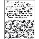 Viva Decor - Sello de silicona (14 x 18 cm), con motivos florales