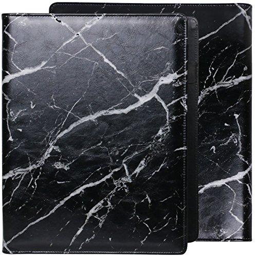 Datei Ordner Buchstabe A4-Papier Expansion Ordner Dokument Veranstalter Visitenkartenhalter und 8Datei Taschen Marmor Muster Schwarz