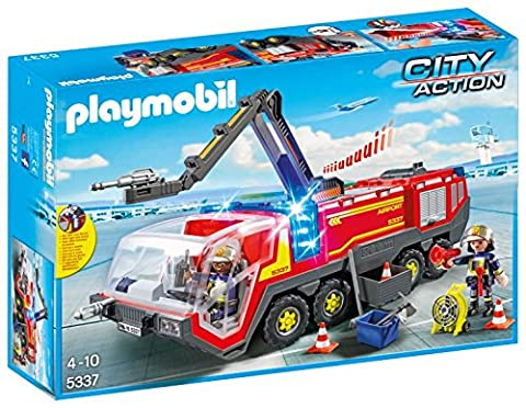 Playmobil 5337 City Action Airport Fire Engine with Lights and