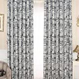 "Sundlight 1pc 39×79"" Newspaper Print Pattern Blackout Curtain Tie Up Shade Polyester Curtain Petal For Bedroom Bathroom Living Room"