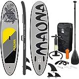 ECD Germany Tabla Hinchable Stand Up Paddle Board 305/308/320cm, de PVC, hasta 120/150 kg, Set Completo, Tabla de Surf Sup Bo