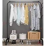 حامل ملابس من المعدن و منظم ملابس - لون اسود