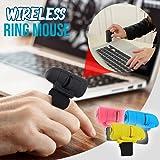 Mouse senza fili ad anello, 2,4 G Creativo per dito Lazy Wireless Computer Phone Tablet Anello Mini mouse Bluetooth Blue
