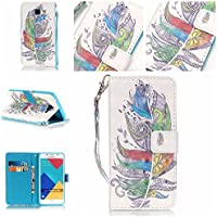 Huawei p9lite, [con protezione schermo gratuita], nanxi Colorful Nizza Pattern PU portafoglio in pelle con (Stile Protezione Di Gas)
