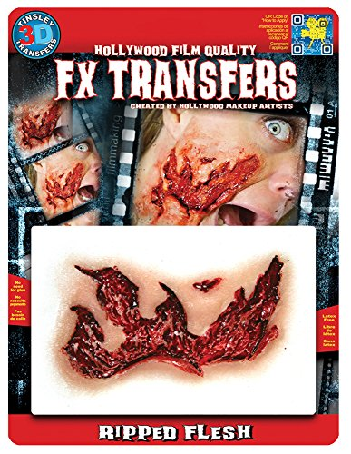 Tinsley Transfers 3D FX Transfers MD Ripped Flesh by Tinsley Transfers (Moderne Kunst Halloween Kostüm)
