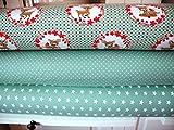 Lottashaus Jersey no60 Stoffpaket 3 Stück 50x70cm Bambi