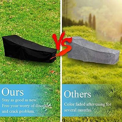 COIEK Wasserfeste Abdeckung für Gartenliege, Sonnenliege und Liegestuhl Schutzhülle, wetterfeste von COIEK auf Gartenmöbel von Du und Dein Garten