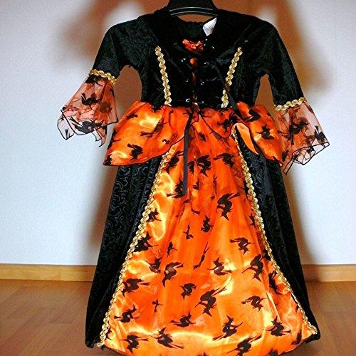 Gargoyle Kostüm Kind - Hexenkostüm Hexe Kinder Kostüm Zauberin Kinderkostüm Gr.116 NEU Kleid