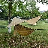 XEHbaby Camping Hamaca con Cremallera mosquiteros Multi-Funcional al Aire Libre Pop-out Hamaca de Camping para una Persona Over 440LB (270 * 140cm)