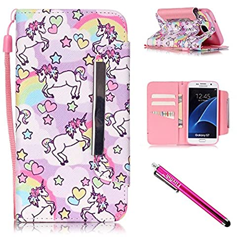 Galaxy S7 Case, Firefish Stand Flip Folio Wallet Cover Shock Resistance Protective Shell with Cards Slots Magnetic Closure for Samsung Galaxy