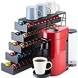 Bagoo Support à dosettes de café pour tiroir Nespresso Vertuoline à plusieurs niveaux pour rangement de capsules Vertuo (5 ni