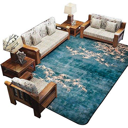 Chinesischen Stil Teppich, Einfache Moderne Schlafzimmer Wohnzimmer Hotel Halle Business Haushalt Rechteck Teppich Blau Hell Lila Grün Grau | Länge 100-120cm (Farbe : A, Größe : 120*180CM) (Chinesische Teppich)