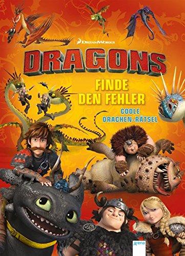 Dragons. Finde den Fehler: Coole Drachenrätsel: