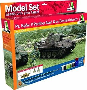 Italeri 73007 - Maqueta de Tanque de Combate V Panther con infantería Alemana