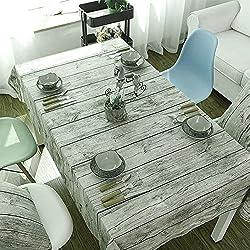 Mantel rectangular vintage de lino, Manteles mesa para Hosteleria, Jardin, restaurante Decoracion para hogar 140x200cm